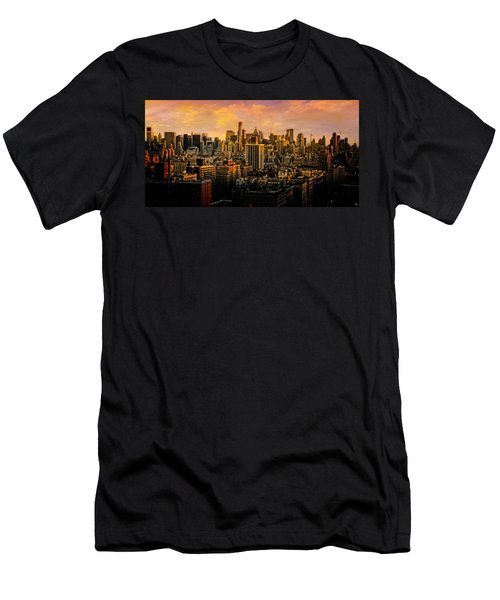 Men's T-Shirt (Slim Fit) featuring the photograph Gotham Sunset by Chris Lord