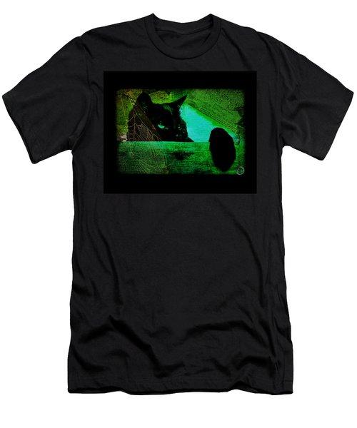Gothic Black Cat Men's T-Shirt (Athletic Fit)