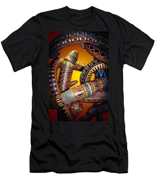 Gourd Snake Men's T-Shirt (Athletic Fit)