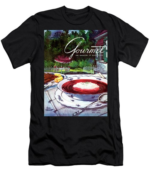 Gourmet Cover Featuring A Bowl Of Borsch Men's T-Shirt (Athletic Fit)