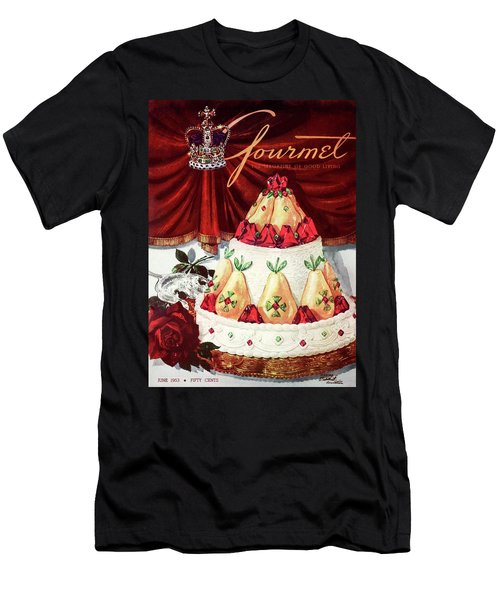 Gourmet Cover Featuring A Cake Men's T-Shirt (Athletic Fit)