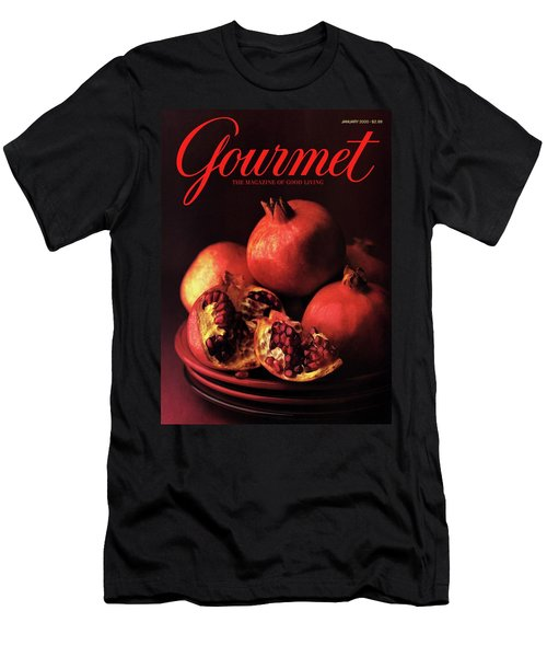 Gourmet Cover Featuring A Plate Of Pomegranates Men's T-Shirt (Athletic Fit)