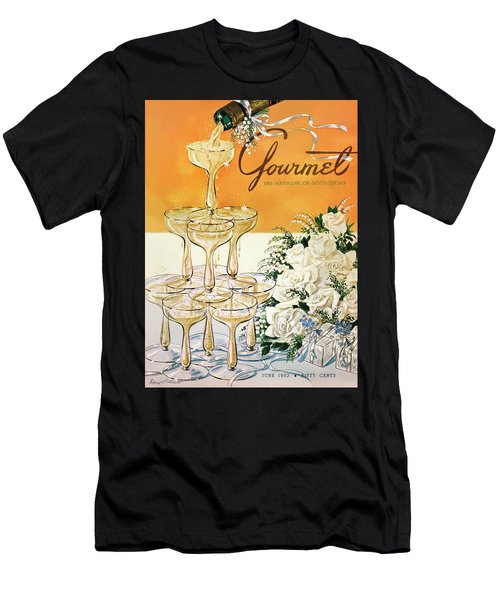Gourmet Cover Featuring A Pyramid Of Champagne Men's T-Shirt (Athletic Fit)