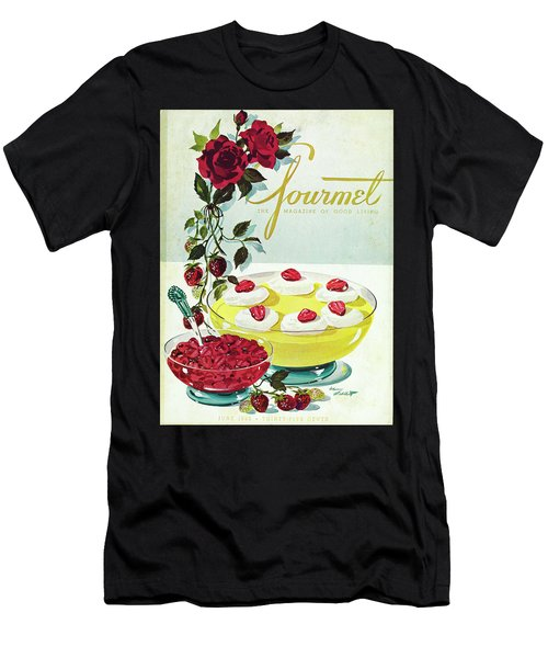 Gourmet Cover Of A Bowl Of Custard Men's T-Shirt (Athletic Fit)