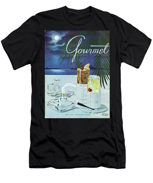 Gourmet Cover Of Cocktails Men's T-Shirt (Athletic Fit)