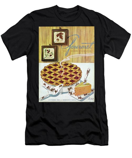 Gourmet Cover Of Cranberry Pie Men's T-Shirt (Athletic Fit)