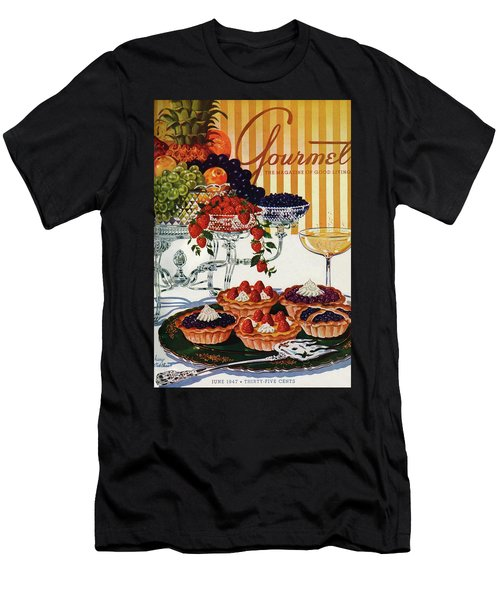 Gourmet Cover Of Fruit Tarts Men's T-Shirt (Athletic Fit)