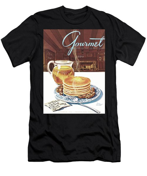 Gourmet Cover Of Pancakes Men's T-Shirt (Athletic Fit)