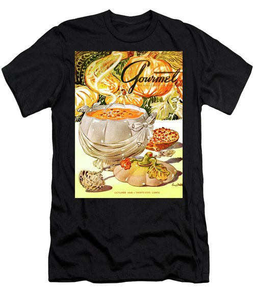 Gourmet Cover Of Pumpkin Soup Men's T-Shirt (Athletic Fit)