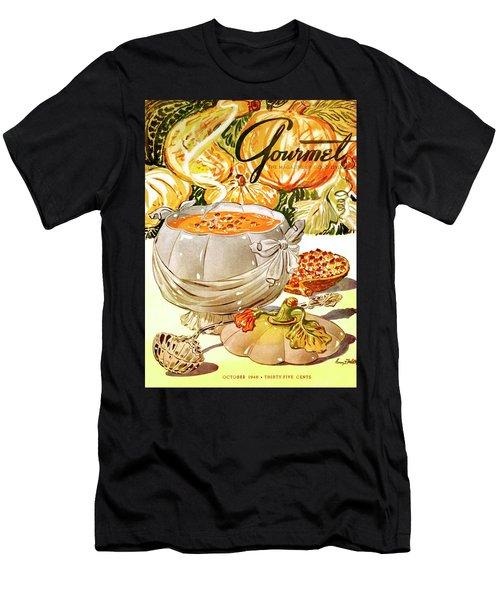 Gourmet Cover Of Pumpkin Soup Men's T-Shirt (Athletic Fit)
