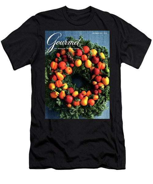 Gourmet Magazine Cover Featuring Marzipan Wreath Men's T-Shirt (Athletic Fit)
