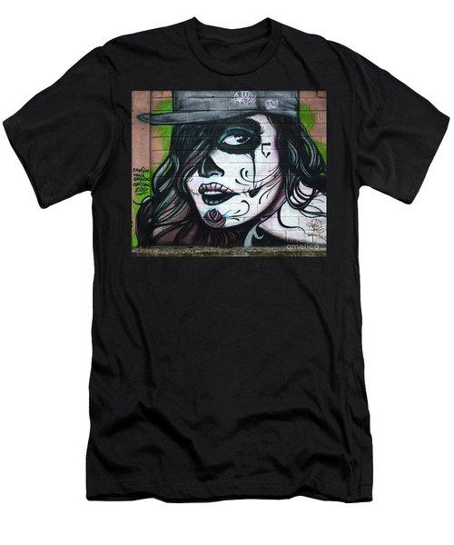 Graffiti Art Curitiba Brazil 21 Men's T-Shirt (Slim Fit) by Bob Christopher