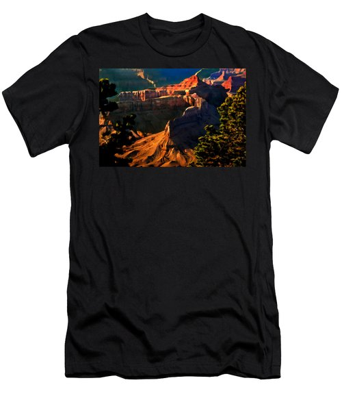 Grand Canyon At Sunset Men's T-Shirt (Slim Fit) by Bob and Nadine Johnston