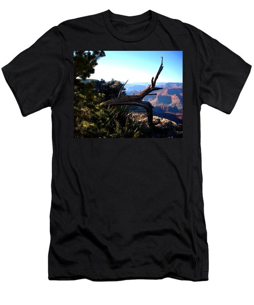 Men's T-Shirt (Slim Fit) featuring the photograph Grand Canyon Dead Tree by Matt Harang