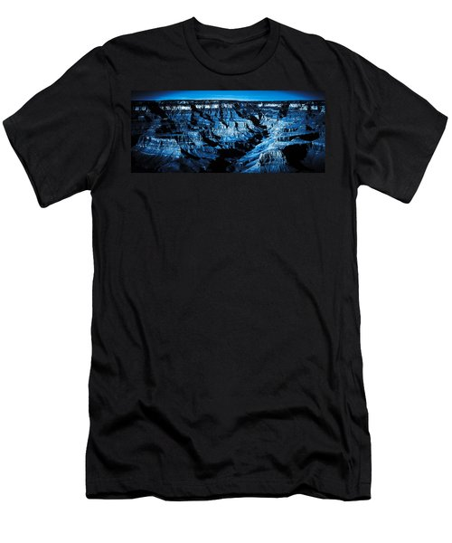 Grand Canyon In Blue Men's T-Shirt (Athletic Fit)