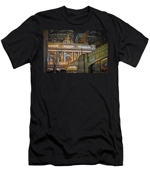 Grand Central Nocturnal Men's T-Shirt (Slim Fit) by Jeffrey Friedkin