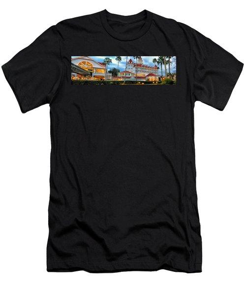 Grand Floridian Resort Walt Disney World Men's T-Shirt (Slim Fit) by Thomas Woolworth