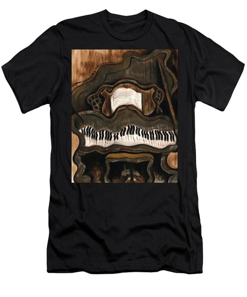 Tommervik Abstract Grand Piano Art Print Men's T-Shirt (Athletic Fit)