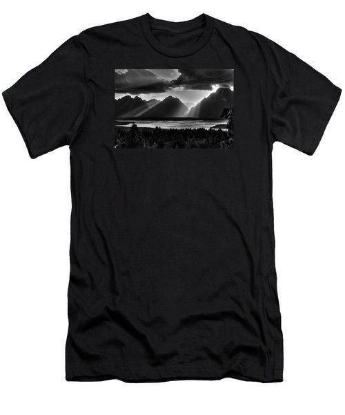 Grand Teton Light Beams Men's T-Shirt (Slim Fit) by Aidan Moran