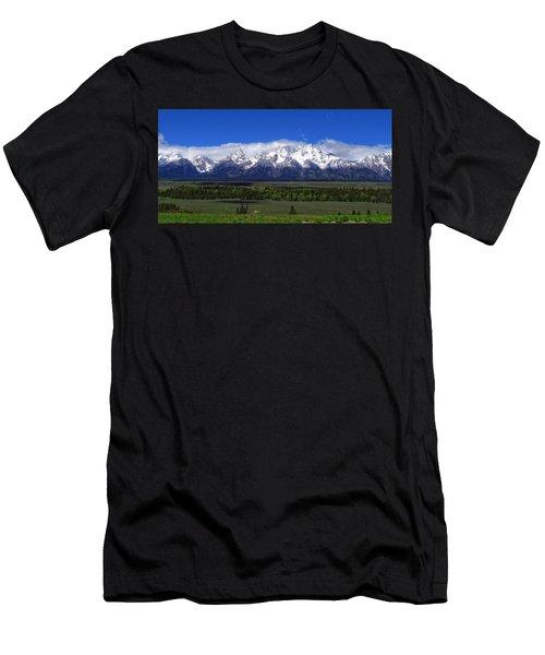 Grand Teton National Park Panorama Men's T-Shirt (Athletic Fit)