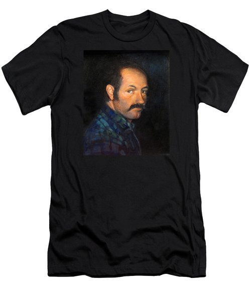 Men's T-Shirt (Slim Fit) featuring the painting Grant by Donna Tucker