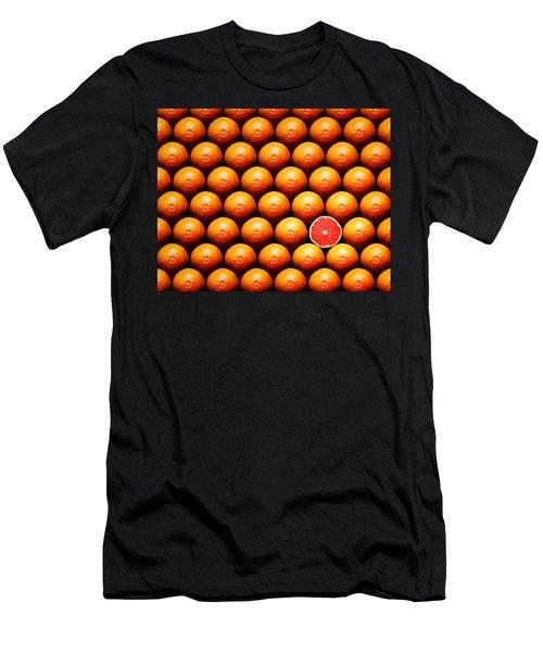 Grapefruit Slice Between Group Men's T-Shirt (Athletic Fit)