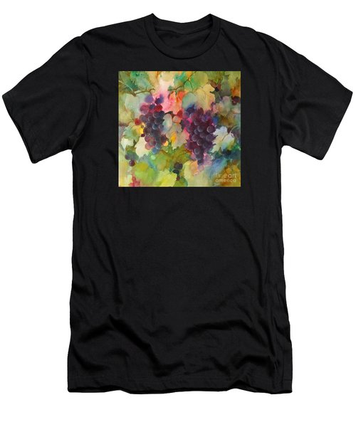 Men's T-Shirt (Athletic Fit) featuring the painting Grapes In Light by Michelle Abrams