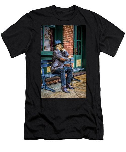Grapevine Cowboy Men's T-Shirt (Athletic Fit)
