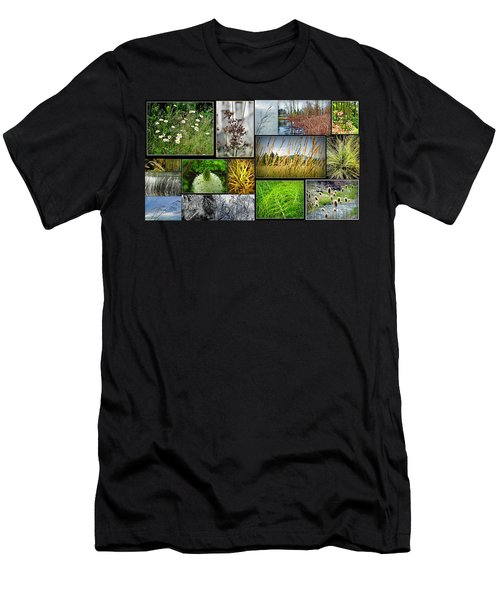 Grass Collage Variety Men's T-Shirt (Athletic Fit)