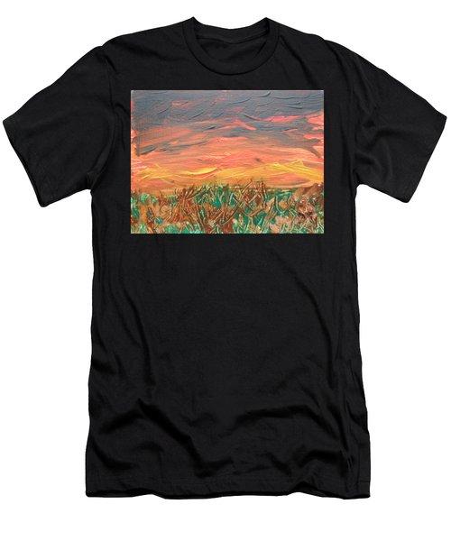 Grassland Sunset Men's T-Shirt (Athletic Fit)