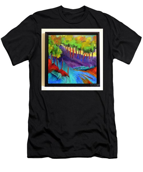 Grate Mountain Men's T-Shirt (Slim Fit) by Elizabeth Fontaine-Barr