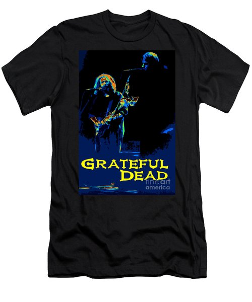 Men's T-Shirt (Slim Fit) featuring the photograph Grateful Dead - In Concert by Susan Carella