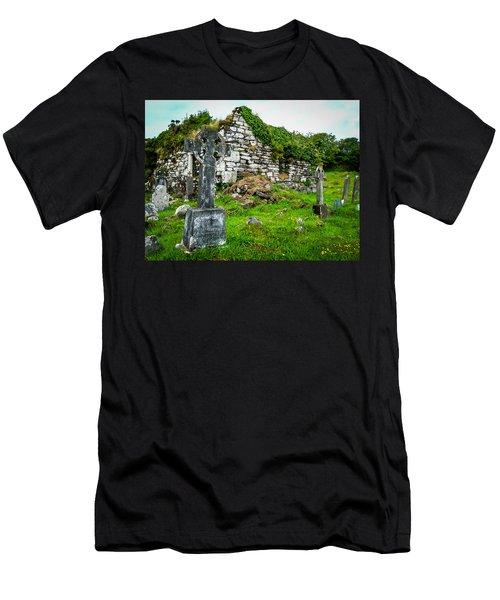 Graveyard And Church Ruins On Ireland's Mizen Peninsula Men's T-Shirt (Athletic Fit)