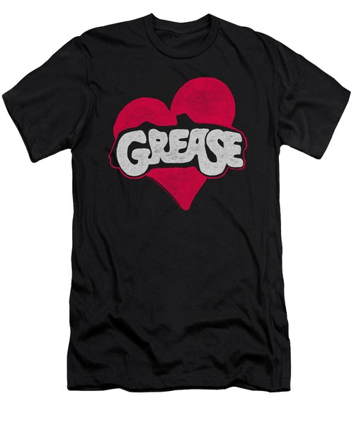 Grease - Heart Men's T-Shirt (Athletic Fit)