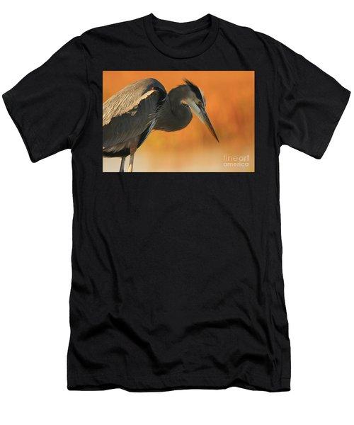 Great Blue Heron Focus Men's T-Shirt (Athletic Fit)