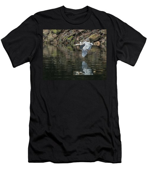 Great Blue Heron Reflections Men's T-Shirt (Athletic Fit)