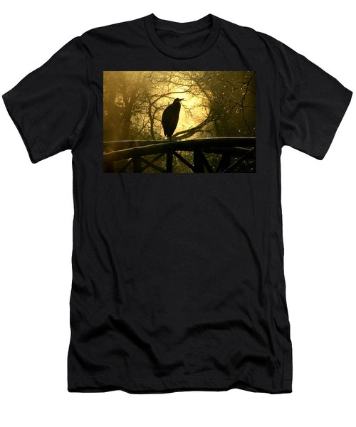 Great Blue Heron Silhouette Men's T-Shirt (Slim Fit) by Brian Chase