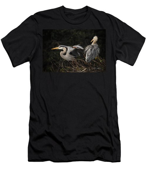 Great Blue Herons  Men's T-Shirt (Athletic Fit)