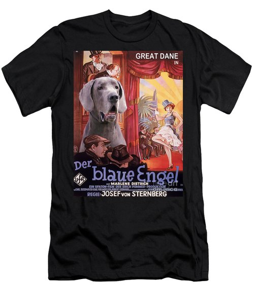 Great Dane Art Canvas Print - Der Blaue Engel Movie Poster Men's T-Shirt (Athletic Fit)