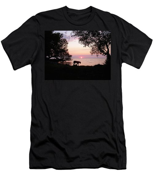 Men's T-Shirt (Slim Fit) featuring the photograph Great Dane Sunset by Aimee L Maher Photography and Art Visit ALMGallerydotcom