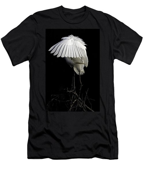 Great Egret Bowing Men's T-Shirt (Athletic Fit)