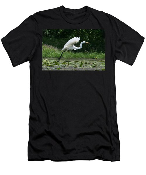 Great Egret Elegance   Men's T-Shirt (Slim Fit)