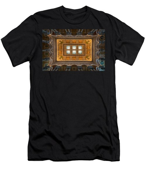 Great Hall Ceiling Library Of Congress Men's T-Shirt (Athletic Fit)