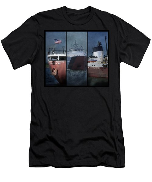 Great Lakes Freighter Triptych Arthur M Anderson Men's T-Shirt (Athletic Fit)