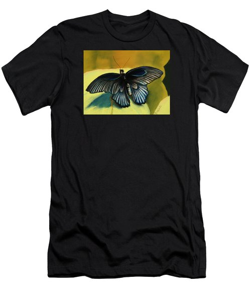 Men's T-Shirt (Slim Fit) featuring the pastel Great Mormon by Pattie Wall