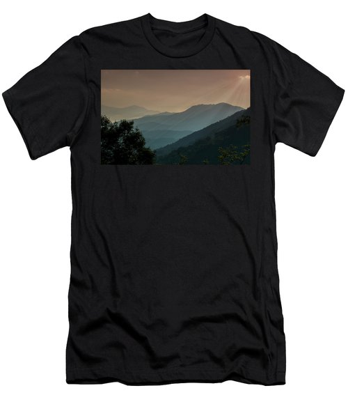 Men's T-Shirt (Slim Fit) featuring the photograph Great Smoky Mountains Blue Ridge Parkway by Patti Deters
