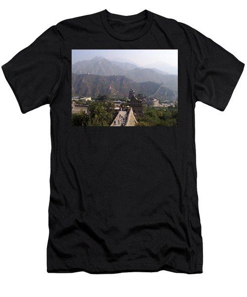 Great Wall Of China At Badaling Men's T-Shirt (Athletic Fit)