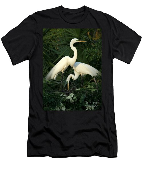 Great White Egret Mates Men's T-Shirt (Athletic Fit)