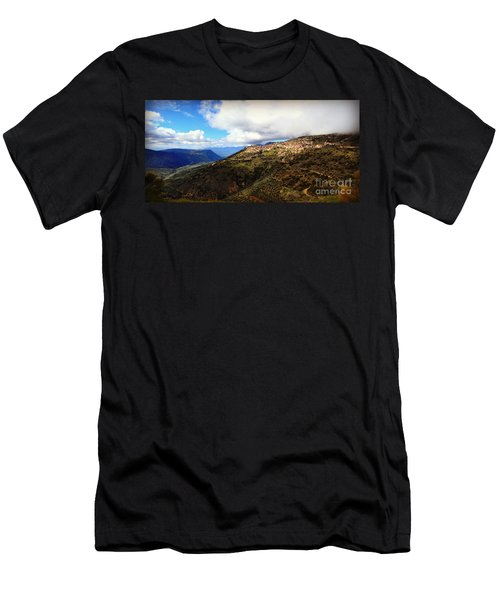 Greece Countryside Men's T-Shirt (Athletic Fit)
