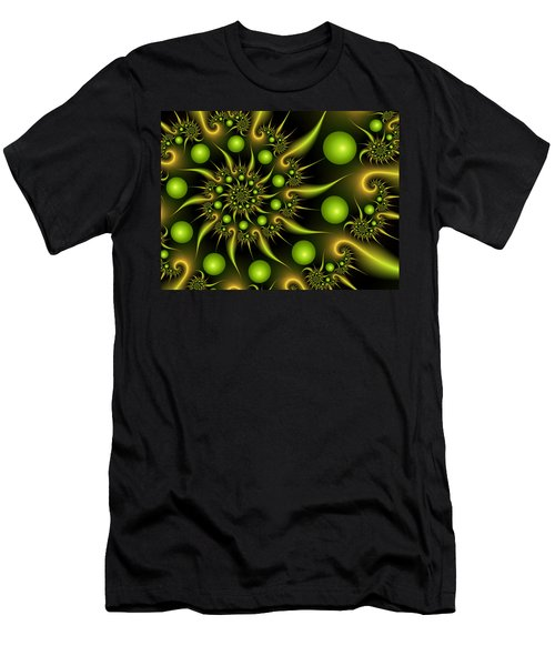 Men's T-Shirt (Slim Fit) featuring the digital art Green And Gold by Gabiw Art